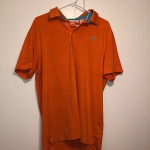 Orange Puma golf polo